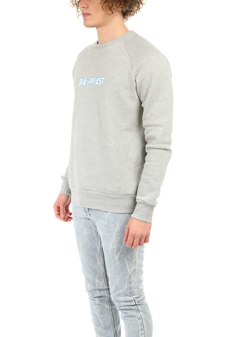 Baja East Metal Fleece Raglan Crew Sweater - Grey