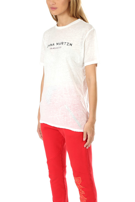 Baja East Donna Martin Burnout T-Shirt - Pearl