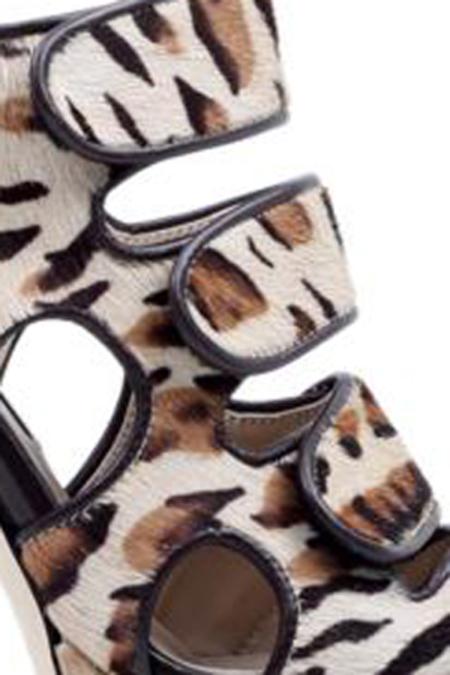 Chrissie Morris Delilah Leopard Platform Shoes - Animal/Lepord