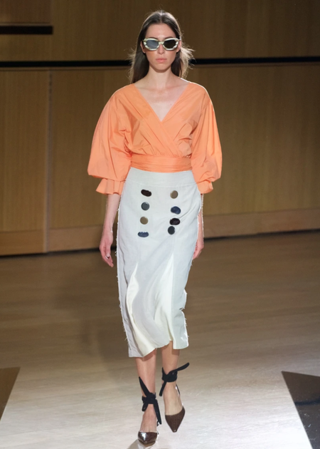 Rejina Pyo Flora Blouse - orange