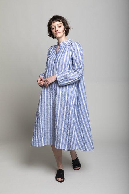 Verdalina Atlin Dress - Blue/White Souk Stripe