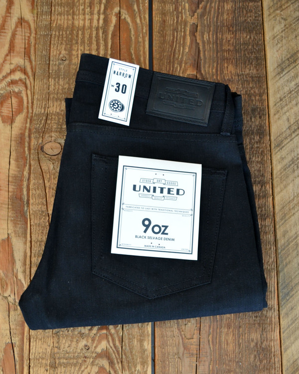 Men's United Stock Dry Goods - Narrow Black Jeans