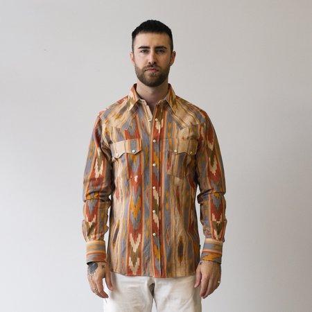 Freemans Sporting Club Western Shirt - Big Ikat