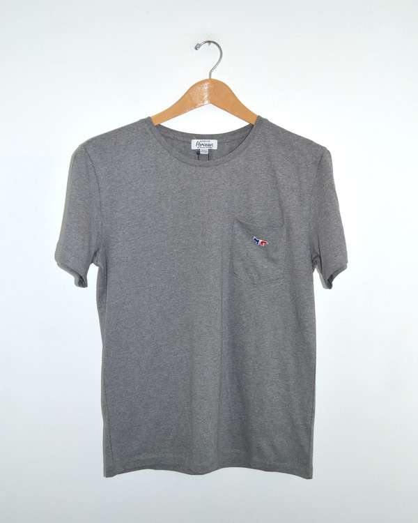 Men's Kitsune - Parisien Man TShirt Gray