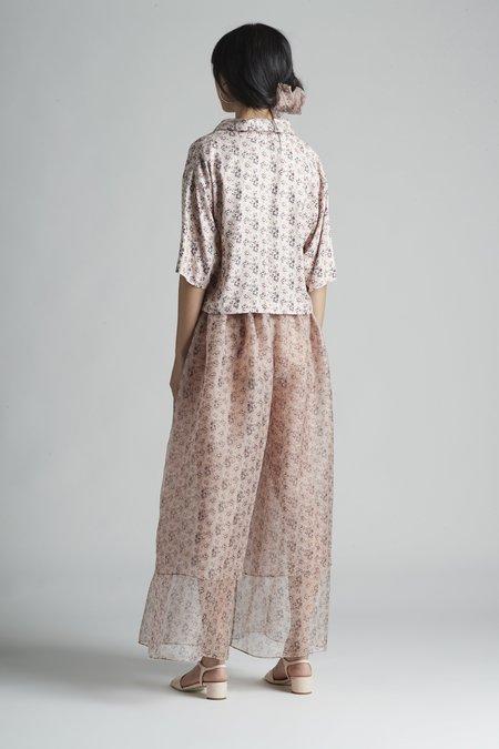 Christine Alcalay Double Layer Silk Organza Pant