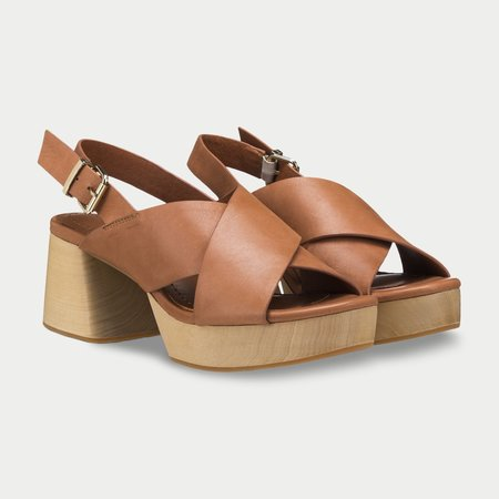 AoverA Jade Platform sandal - Tan