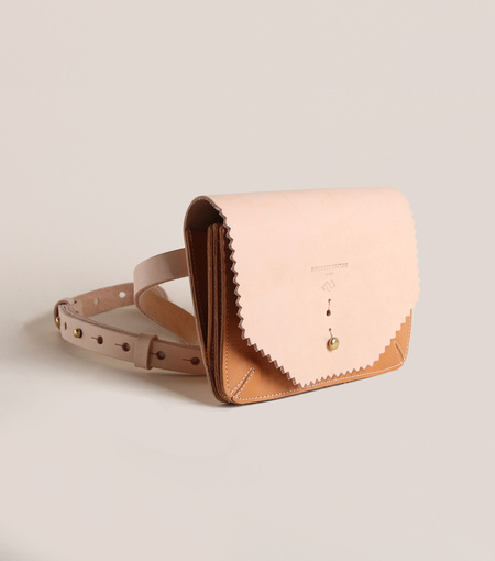 Fleabags Accordion Vaqueta Leather Waist Wallet - Blush/Tan