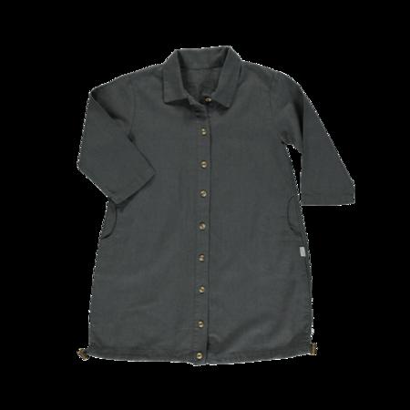Kids Poudre Organic Pineapple Linen Jacket - Pirate Black