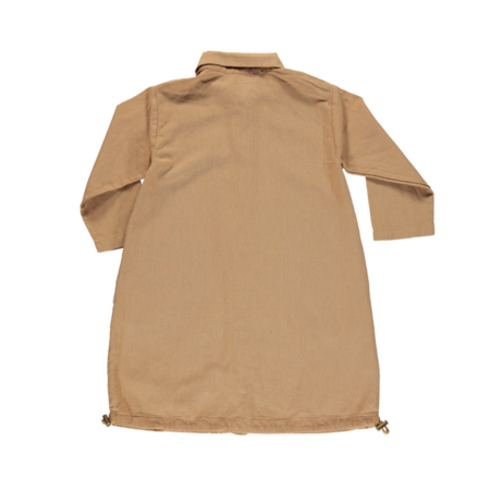 Kids Poudre Organic Pineapple Linen Jacket - Brown Sugar