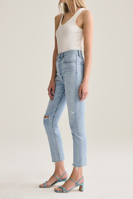 Agolde Riley Hi Rise Straight Jeans - Shattered