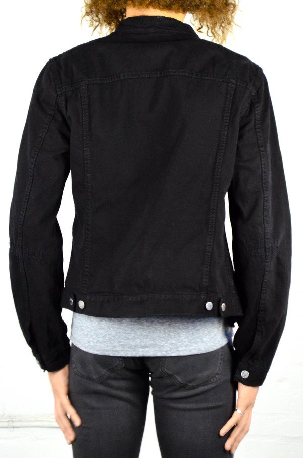 Nudie Billy Black Black Worn Denim Jacket