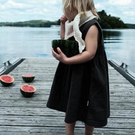 Kids Poudre Organic Matcha Dress - Pirate Black