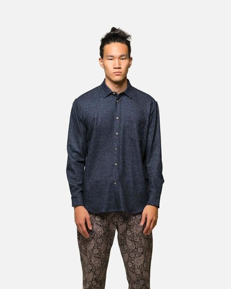 House of St. Clair 1905 Shirt in Tweed - Indigo
