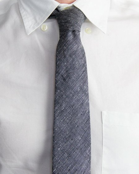 Forth and Nomad Tweed Tie - Black/White