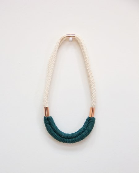 FIBROUS Dolly Necklace - Teal