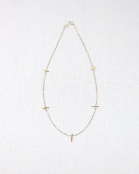 Haley Lebeuf Jewelry Empire Chain Collar necklace - Gold Mix