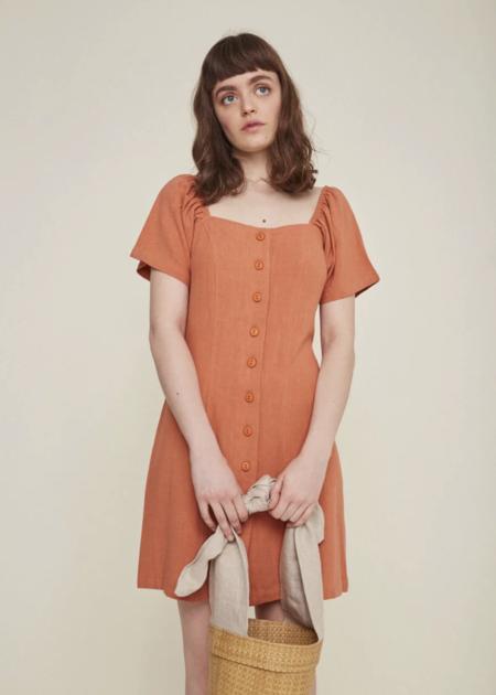Rita Row Dress - Clay