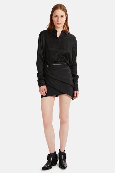 RtA Lizzie Multi Zip Skirt - Track Black