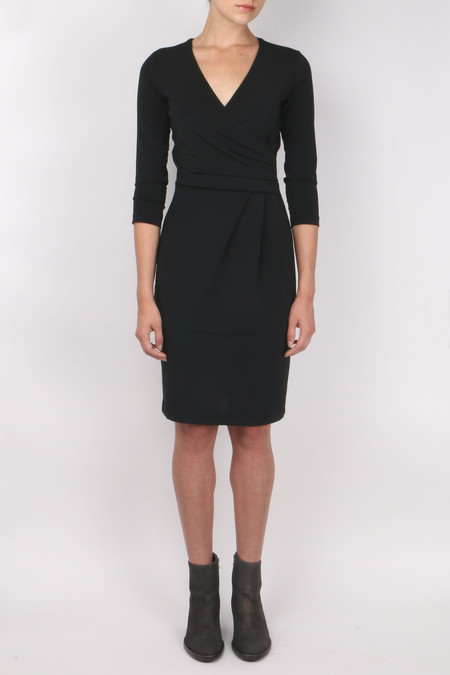 Peserico 3/4 Sleeve V Neck Dress