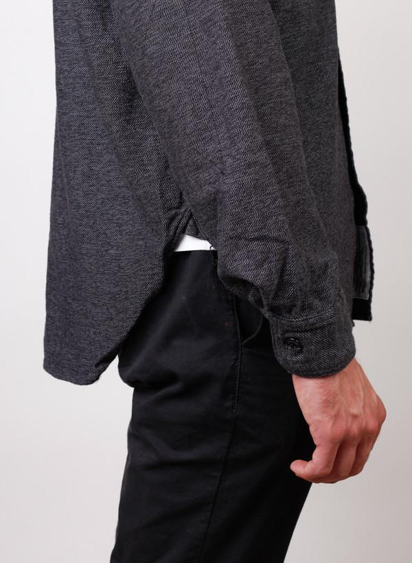 Men's Engineered Garments Work Shirt Grey/Black Broken Twill