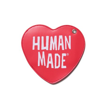 Human Made Heart Leather Pass Case - Red