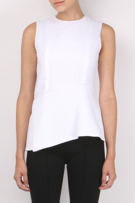 Carven Fluid Sleeveless Top - Blanc