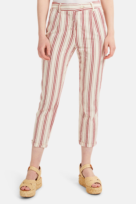 Sunday Saint-Tropez Sunday Saint Tropez Harisson Pants - Red stripe