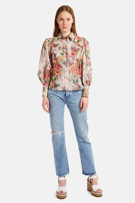 Zimmermann Wavelength Billow Sleeve Shirt - multi