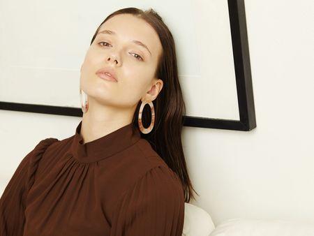 Valet Studio Marlo Earrings - Marble