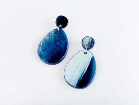 Valet Studio Pandora Earrings - Navy