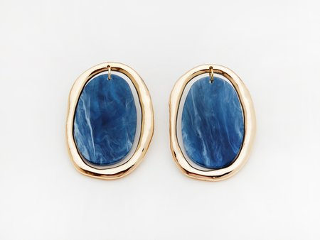Valet Studio Rachelle Earrings - Navy
