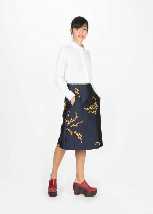 Odeeh Embossed Leaf Skirt