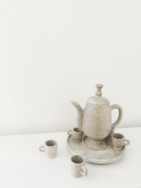 Ri-Ri-Ku Vintage CARVED STONE TEA SET