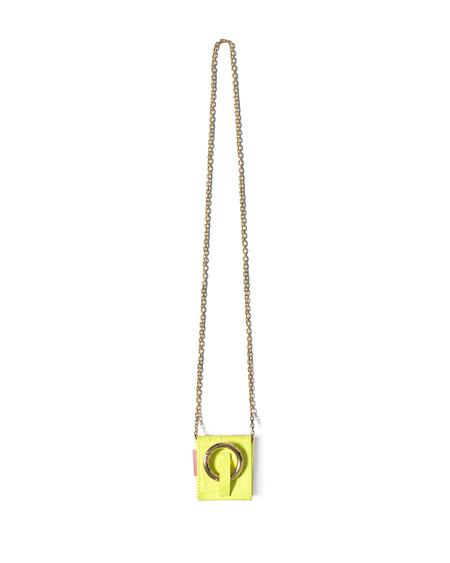 Tubici Paris Leather Neck Mini Bag - Yellow