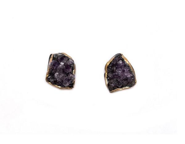 Adina Mills Amethyst Stud Earrings