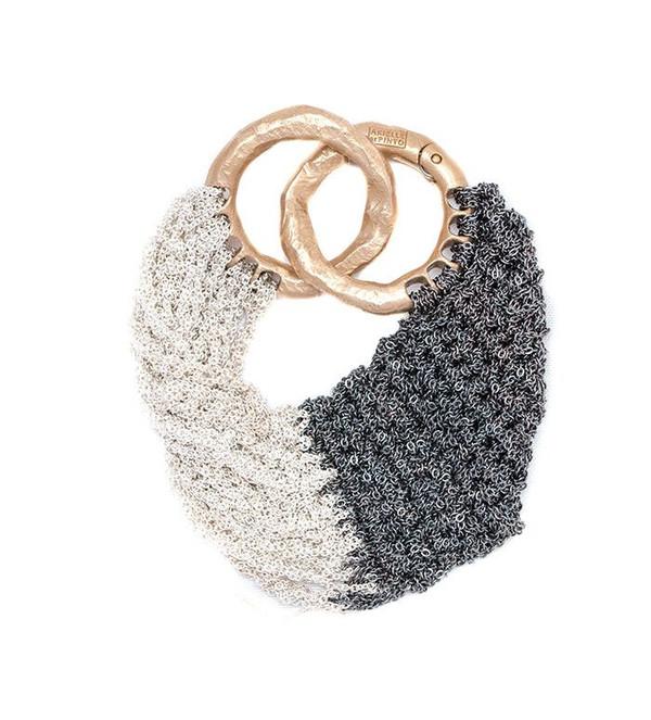 Arielle De Pinto Buxom Bracelet in Midnight + Silver