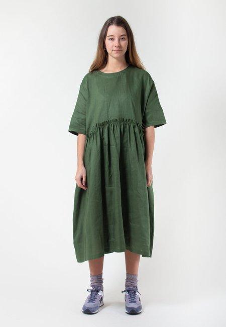IVY NIU Long Tent Dress - linen moss