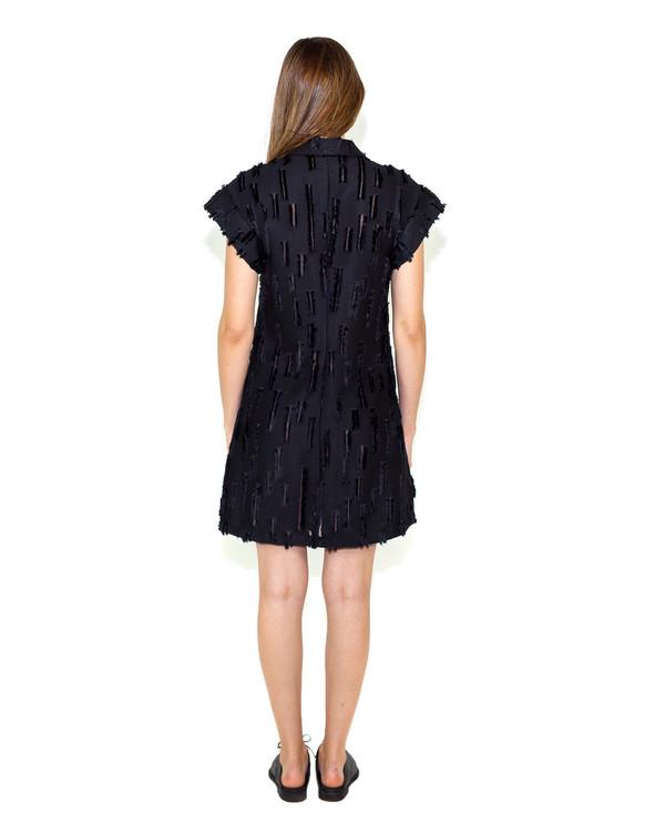 Creatures of Comfort Agatha Dress in Black Slash Viscose