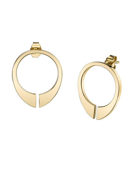 Gabriela Artigas Mitre Earrings in 14K Gold
