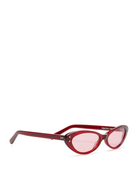 Martine Rose Cat-Eye Sunglasses - Red