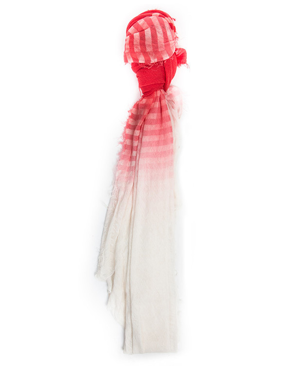 Grisal Alba 100% Ramie Scarf in Cherry