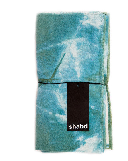 Shabd Crystalline Napkin Set in Ocean
