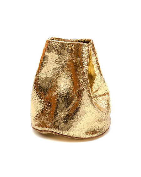 Tracey Tanner Medium Closed Basket in Gold Foil