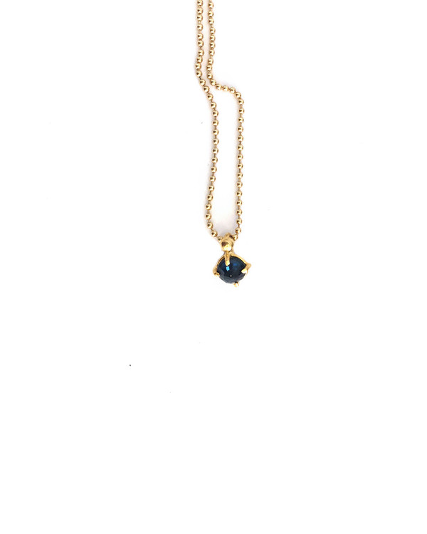 Unearthen Altair Necklace in Yellow Gold with Sapphire Pendant