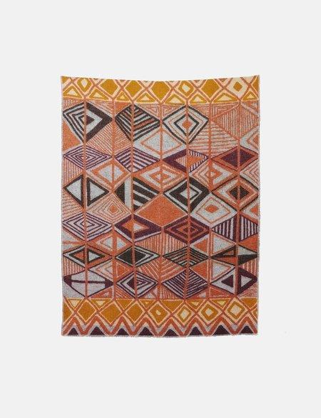 ZigZag Zurich Dakar Wool Blanket - Orange