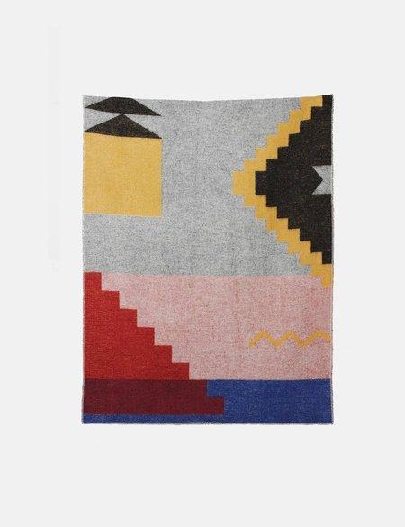 ZigZag Zurich Fez Wool Blanket - Grey