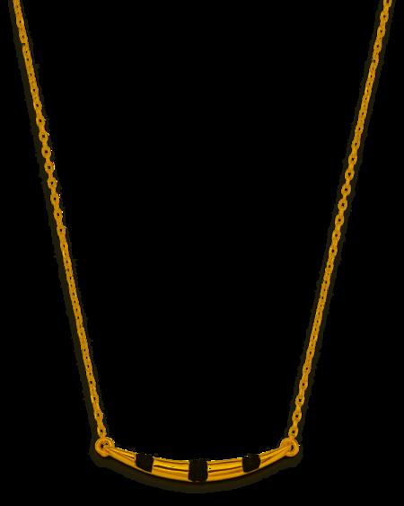 Adina Reyter Small Pavé Stripe Curve Necklace - Gold