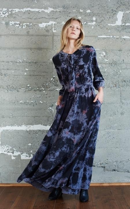 KAMPERETT Camille Silk Hand Painted Dress