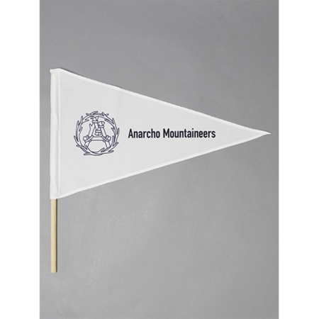 Mountain Research Little Summer Camp Pennant Flag - White