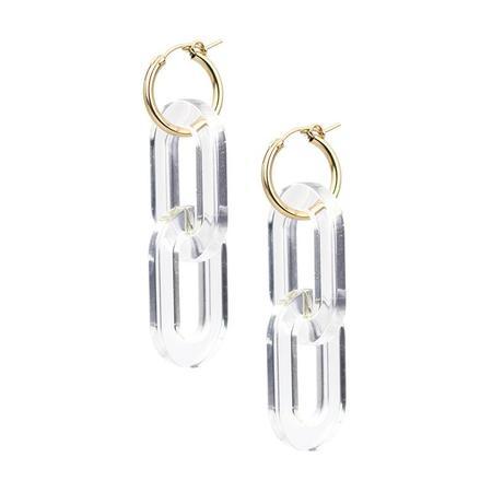 Baleen Catena Earrings - Clear